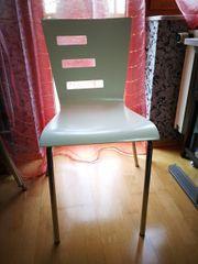 3 Stühle weiß Holz Chrom
