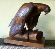 2 alte Skulpturen gr Adler