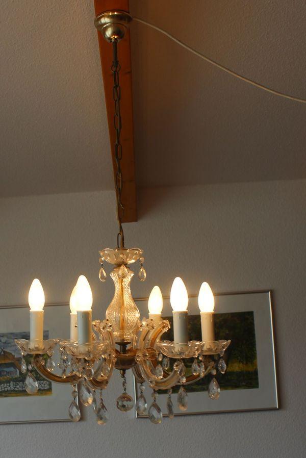 Deckenlampe und Wandlampe in Kronleuchterflair