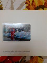 Ayrton Senna Telefon Sammelkarte sehr