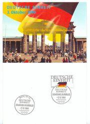Briefmarke Deutsche Einheit 1990 100Pf