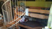 Hochbett mit Wendeltreppe zu verkaufen