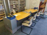 Massiver doppelter hochwertiger Schreibtisch mit