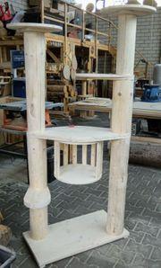 Kratzbaum Naturholz Handarbeit 180cm UNIKAT