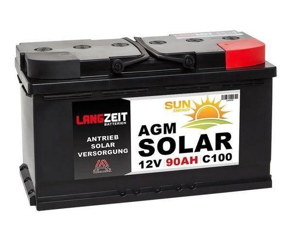 Langzeit AGM Solar Batterie 110Ah