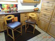 2 Küchenhocker in Buchen-Holz mit