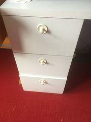 Schreibtischweiss 3 Schubladen