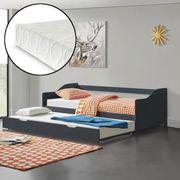 Bett Kinderbett Tandembett grau Lattenrost