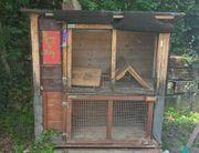 Kaninchenstall mit 2 Zimmern