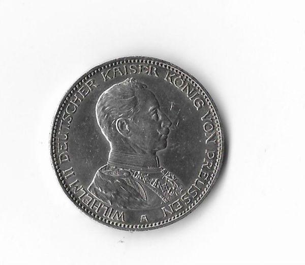 3 Mark Münze Silber 1914