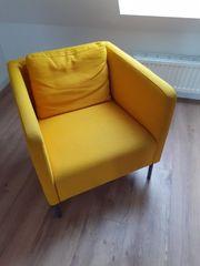Ikea Ekerö Sessel gelb