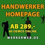 Handwerker Webseiten Homepage 40 Demos