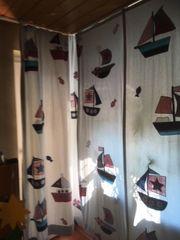 Vorhang für Kinderzimmer Thema Schiffe