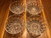 4x Glas Schälchen Schüssel Salatschüsseln