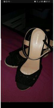 Schuhe sandalen keilabsatz Größe 42