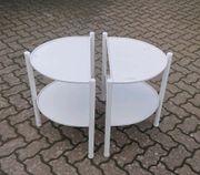 Tisch Beistelltisch Wandtisch halbrund Stahl
