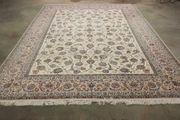 370x253 cm weißer Orientteppich Perserteppich
