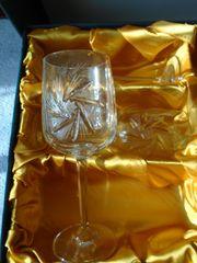6 Stück Bohemia Crystall Weinkelche