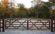 72 Englisches Holztor Pferdezaun Weidezaun