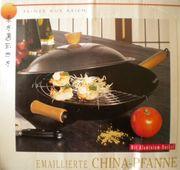 Neue unbenutze emaillierte CHINA-PFANNE