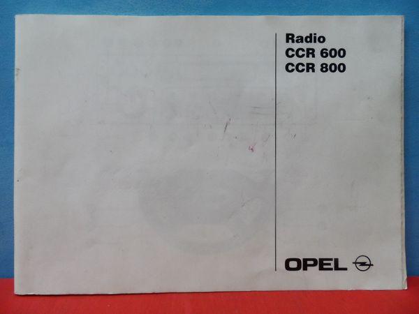 Bedienungsanleitung Autoradio - Handbuch Opel Radio
