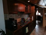 Küchenzeile Eiche dunkel inklusive Kühlschrank