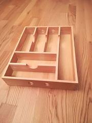Besteckeinsatz aus Holz