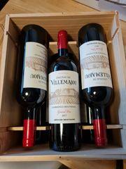 Wein 6 Flaschen in Holzkiste