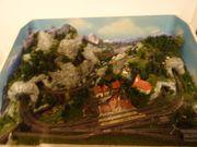 Märklin Z Eisenbahnanlage mit Lokomotive