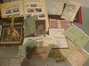 Großes Konvolut 1870-1944 Dokumente Hefte