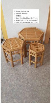 Bambus Stuhl Set