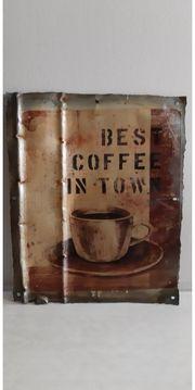 UNIKAT Blechschild BEST COFFEE