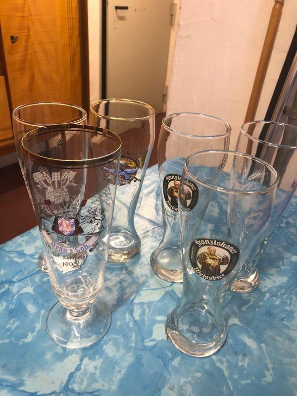 5 Weizenbier Gläser