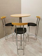 4-tlg Essgruppe 3 Barstühle 1