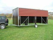 Mobile fahrbare Weidehütte Außenbox für