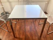 Ikea Glastisch mit 3 Stühlen