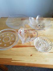 Glasschalen und Teller siehe Bilder