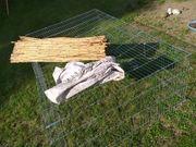 Großes Freigehege für Kaninchen Schildkröten