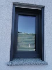 Kunststofffenster grau verschiedene Größen
