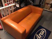 IKEA Klippan Sofa Kunstleder orange