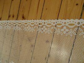 Gardinen, Jalousien - Scheibengardine mit Blütenmuster