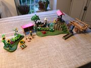 Playmobil großes Gartenset mit Brunnen
