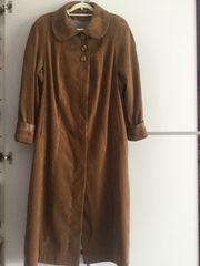 Damen Velour Trenchcoat Gr 46