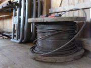2 Rollen massives Stahlseil zu