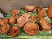 Olivenholz Tisch und Tafel - B-Ware