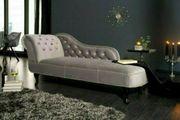 NEU Recamiere Couch Chesterfield Samt