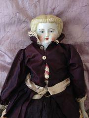 Blonde Biedermeier Puppe gut erhalten