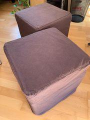 IKEA Hocker mit Stoffbezug dunkelbraun