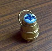 Messing-Miniatur Gefäß mit Deckel