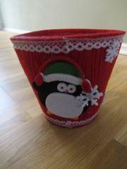 Filzkorb Nikolaus befüllen Süßigkeiten Korb